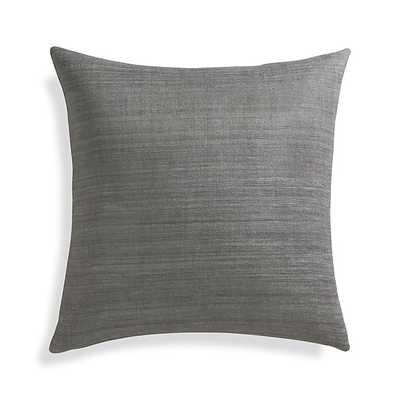 Michaela Pillow - Smoke Grey, 20x20, Feather Insert - Crate and Barrel