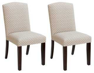 Flax/White Indio Side Chairs, Pair - One Kings Lane
