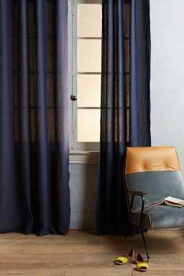 Linen Grommet Curtain- 96x50 - Anthropologie