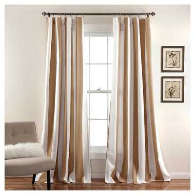 Wilbur Curtain Panels - Set of 2, Taupe Brown - Target