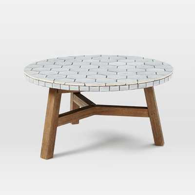 Mosaic Tiled Coffee Table - Gray Spider Web Top - West Elm