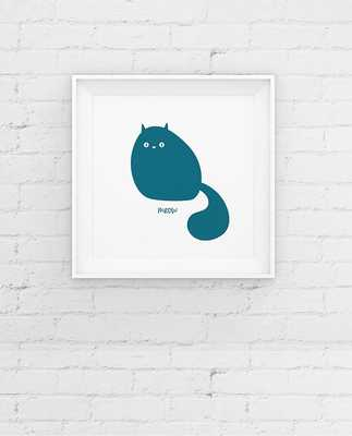 Cat Art - Contemporary Minimal Giclee Art Print - 8x8 - Unframed - Etsy
