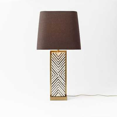 Chevron Deco Table Lamp - Large - West Elm