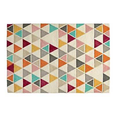 5' x 8' Totally Triangular Rug. - Land of Nod