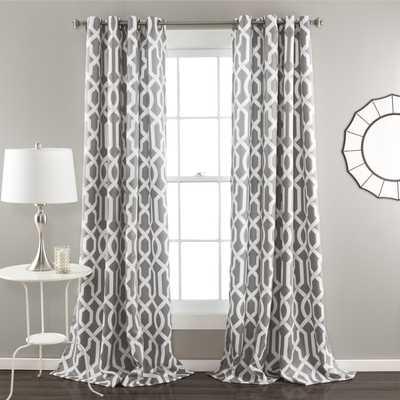 Lush Decor Edward Blackout Window Curtain Panel Pair - Overstock