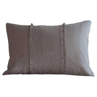 Hampton Boudoir Linen Lumbar Pillow - Wayfair