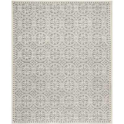 Safavieh Handmade Cambridge Moroccan Silver/ Ivory Rug (11'6 x 16') - Overstock