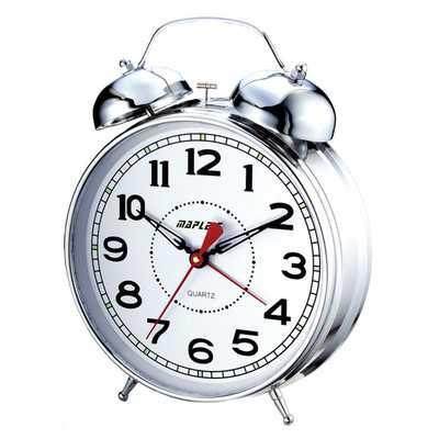 """4"""" Desktop Double Bell Alarm Clock - Wayfair"""