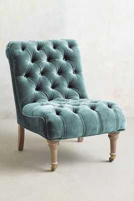 Slub Velvet Orianna Slipper Chair - Anthropologie