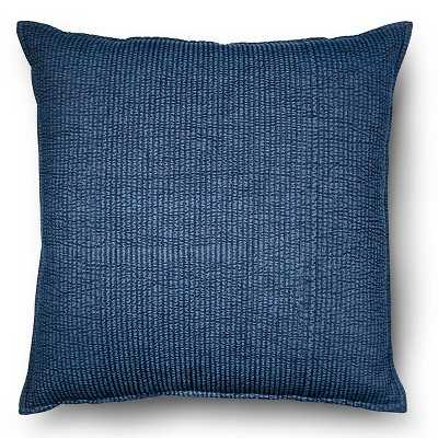 """Oversized Throw Pillow Chambray Denim - Blue - 24"""" x 24"""" - Polyester fill - Target"""