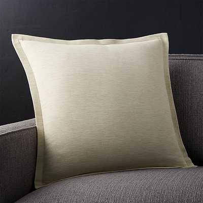 """Linden Natural 18"""" Pillow with Down-Alternative Insert - Crate and Barrel"""