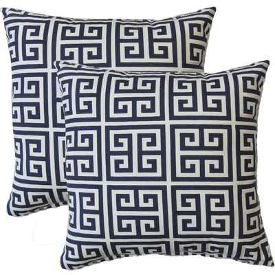 "Premiere Home Greek Key Throw Pillow - 17"" H x 17"" W x 4"" D - Insert included - Wayfair"