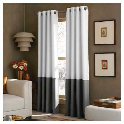 "Curtainworks Kendall Lined Curtain Panel - 84"" - White - Target"