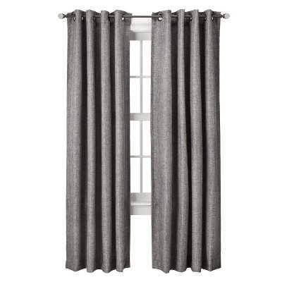"Thresholdâ""¢ Basketweave Curtain Panel - Gray - 54 x 84"" - Target"
