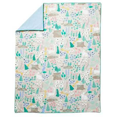 Twin Folktale Forest Duvet Cover - Land of Nod