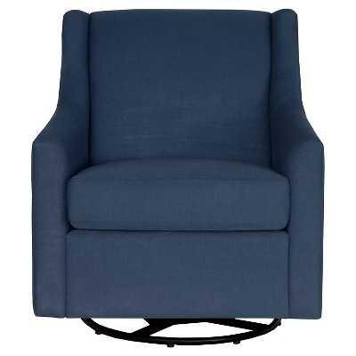 Norwalk Swoop Arm Swivel Rocker Chair - Navy - Target