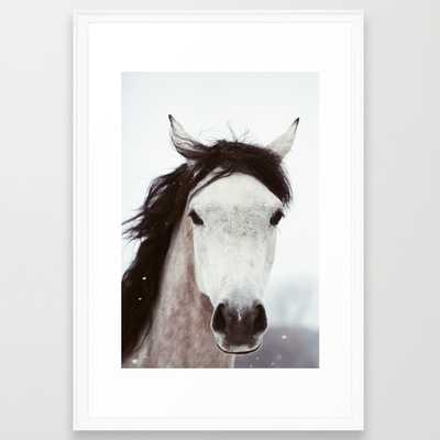 "Winter Horse- 26"" X 38"" - Framed - Society6"