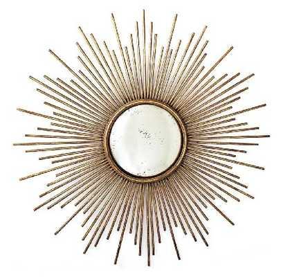 La Villette Antique Gold Hollywood Regency Sunburst Mirror - Amazon