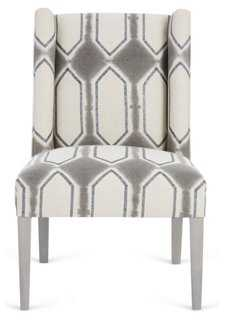 Campbell Side Chair, Oatmeal/Charcoal - One Kings Lane