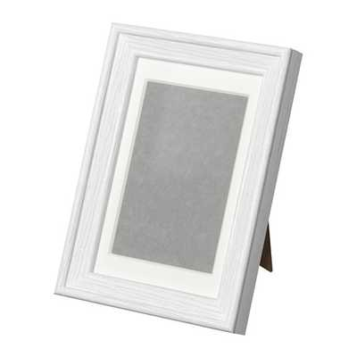"KNOPPÃ""NG frame white stained - Ikea"