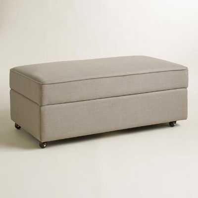 Pebble Gray Chad Storage Ottoman - World Market/Cost Plus