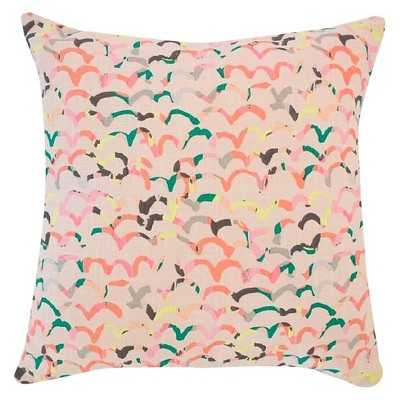 Scattered Scallop Throw Pillow Blush/Pale Pink- 18 L x 18 W-  Polyester  fill insert - Target