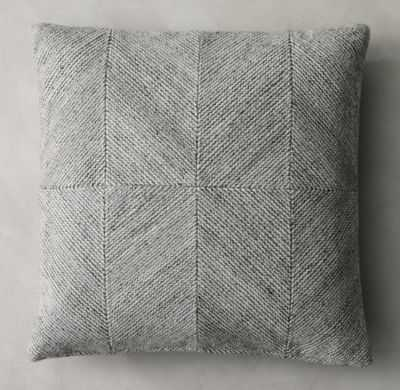 """PIAZZA PILLOW COVER-22"""" x 22"""" -insert not included - RH"""