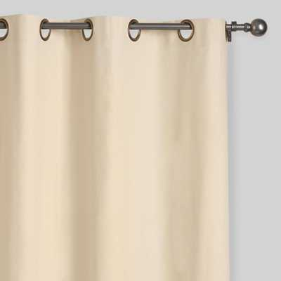 Natural Parker Grommet Top Curtains, Set of 2 - World Market/Cost Plus