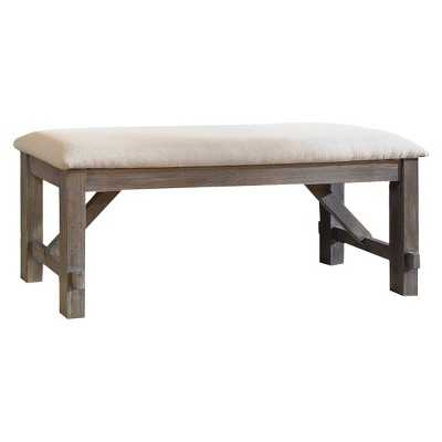 Turino Distressed Dining Bench Hardwood/Gray - Powell Company - Target