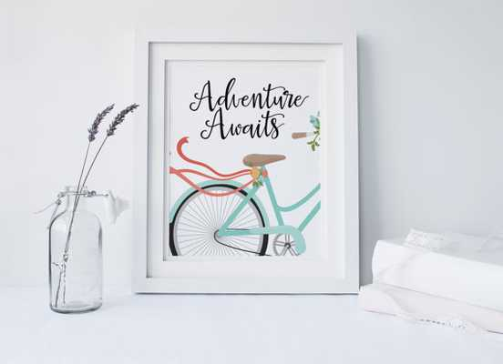 """Adventure Awaits"" - 8 inches x 10 inches - Unframed - Etsy"