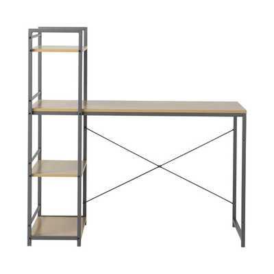 Desk with Built-In 4 Shelf Bookcase - AllModern