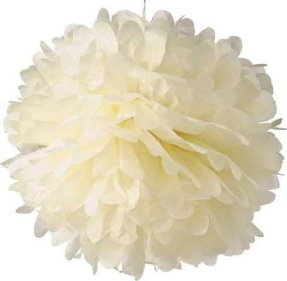 Ivory Tissue Pom Poms/Paper Flowers - Etsy