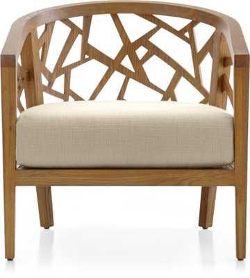 Ankara Grey Wash Frame Chair with Fabric Cushion - Natural - Crate and Barrel
