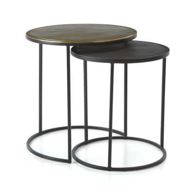 Knurl Nesting Accent Tables- Set of 2 - Crate and Barrel