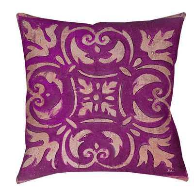 Mosaic Indoor/Outdoor Throw Pillow - Purple, 20x20, With Insert - Wayfair