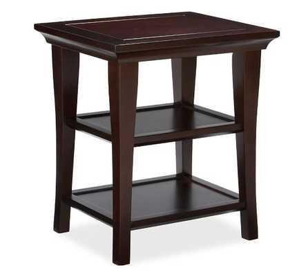 Metropolitan Rectangular Side Table - Espresso - Pottery Barn