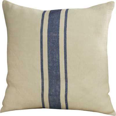 "Exeter Striped Design Throw Pillow- 20"" Sq- Navy Blue - Wayfair"