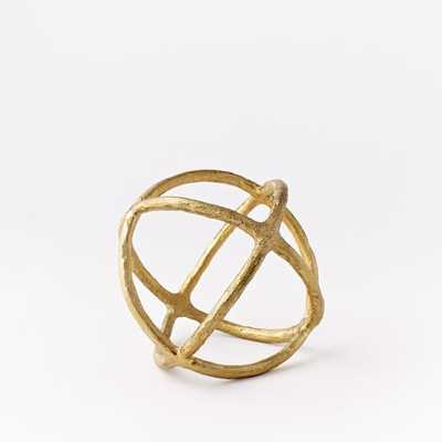 Sculptural Spheres - Small - Gold - West Elm