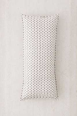 "Maeve Ikat Body Pillow- 16""w x 36""l- Black & White- Poly fill insert - Urban Outfitters"
