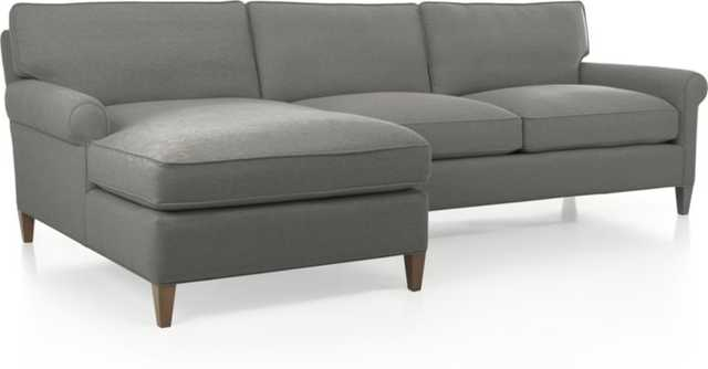 Montclair 2-Piece Sectional Sofa - Nickel - Crate and Barrel