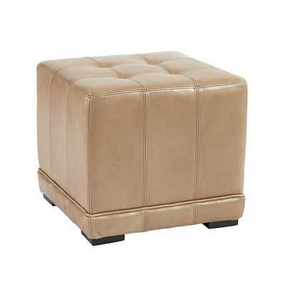 Leather Cube Ottoman - Ballard Designs