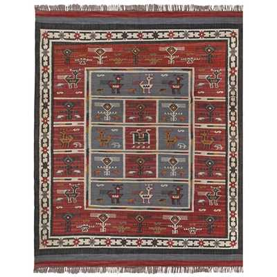 Hand Woven Tribal Wool and Jute Rug - Overstock