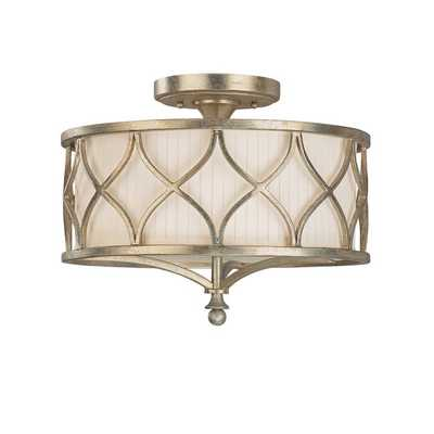 Capital Lighting Fifth Avenue Collection 3-light Winter Gold Semi Flush Fixture - Overstock