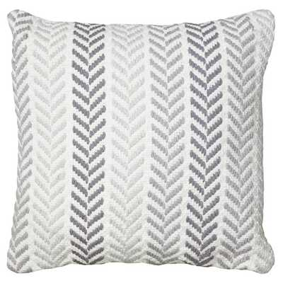"Chevron Cotton Throw Pillow - Grey -  18"" H x 18"" W -  Polyester/Polyfill insert - AllModern"