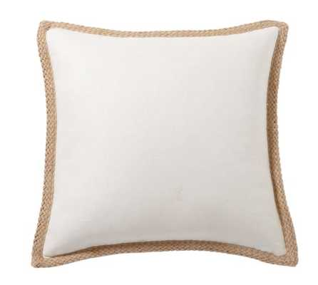 Jute Braid Pillow Cover - 20x20 - Ivory - Insert sold separately - Pottery Barn