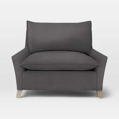 Bliss Down-Filled Chair-and-a-Half - Linen Weave, Steel Gray - West Elm