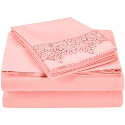 Heritage 3000 Series Microfiber Sheet Set - Pink - Queen - AllModern