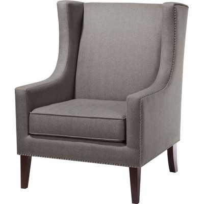 Barton Wing Chair - Charcoal - Wayfair