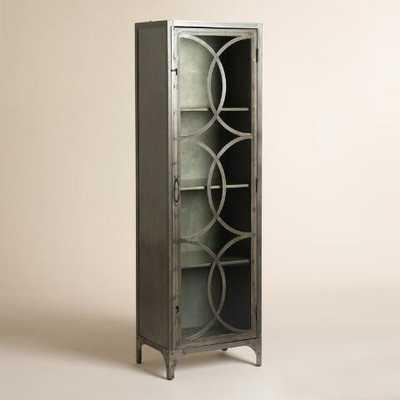 Metal and Glass Half Circle Eriksen Curio Cabinet - World Market/Cost Plus