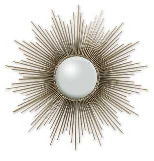 "40"" Rods Sunburst Mirror, Nickel - One Kings Lane"